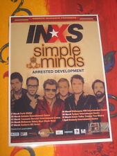 INXS - SIMPLE MINDS -  AUSTRALIAN  TOUR  -  PROMO TOUR POSTER