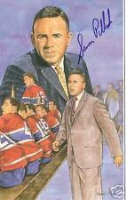Sam Pollock Autographed Hockey Legends Card HOFer RARE!