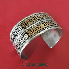 Bracelet/Jonc Argent Tibétain Mots Mantra Ethnique Tibet Sliver Bangle (BJB0345)