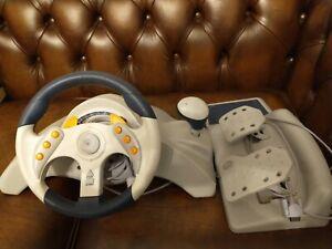 Sega Dreamcast Mad Catz MC2 Steering wheel