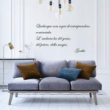 wall stickers frasi Adesivi Murali vita life goethe potere magia famiglia a0371