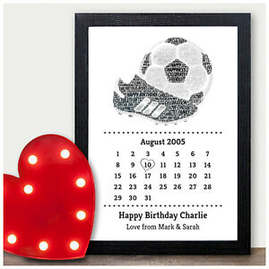 Personalised Football Birthday Gifts for Him 13th 16th 18th 21st Boys Male Son