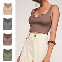 Womens Crop Top Sexy Summer Casual Tank Tops Vest Sleevelees T-Shirt Fashion Tee