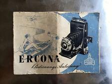 Zeiss Ikon ERCONA - Anleitung - Text.deutsch - Classic-Camera-STORE