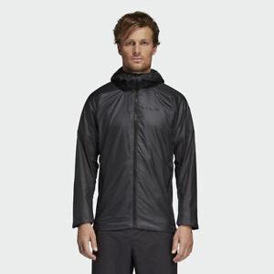 adidas men's hooded jacket agravic alpha shield carbon black dq1494 msrp $159 12