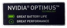 NVIDIA OPTIMUS  STICKER LOGO AUFKLEBER 40x15mm (865)