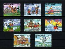 Sierra Leone - 1987 - Disney - Mickey - Goofy - Dumbo - Capex - 8 X Mint Nh Set!