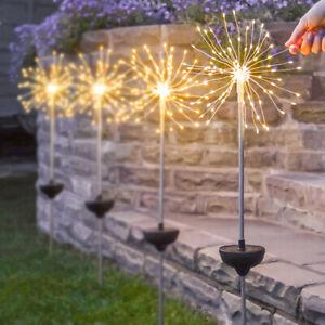 Solar Power Novelty Starburst Firefly Firework LED Stake Light | Garden Party