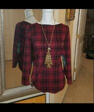 Plaid Red and Black Long Sleeve Shirt Size S NEW