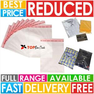 CELLOPHANE CLEAR CELLO BAGS DISPLAY GARMENT SELF ADHESIVE PEEL&SEAL PLASTIC OPP