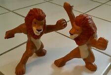 McDonald's 2006 The Wild SAMSON Fighting LION Disney FIGURE Pair Cake TOPPER