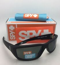 New SPY OPTIC Sunglasses DIRTY MO Soft Matte Black Frame w/Happy Grey-Green Lens