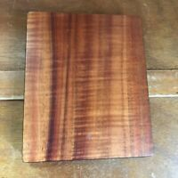 Vintage Small Amber Colored Wood Wooden Covered Scrapbook Picture Book  – 8 and
