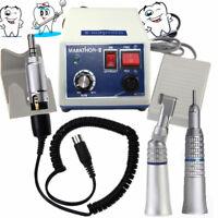 US Dental lab Marathon 35KRPM Micro Motor N3+ Straight& Contra Angle Handpiece