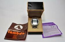 NOS Vtg  1970s one of the first LCD Lambda watch w/ box, papers, new battery