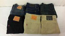 LOT of 6 Mens Designer Blue Jeans Levis 513 514 Old Navy Express Size 30 x 32