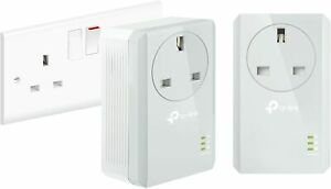 TP-Link TL-PA4010 KIT AV600 Passthrough Powerline Starter Kit (Up to 600 Mbps)