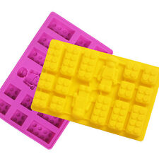 For Lego Lover Silicone brick & Robot  ICE Cube Chocolate Cake Soap Mold Molds