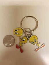 Yellow Tweety Bird 3-charm pendants key chain