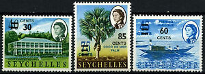 Seychelles 1968 SG#246-8 Definitives Surch MNH Set #D36565