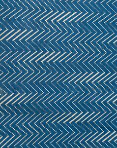 Vintage 1800s Discharge Printed Indigo Blue Quilt Yardage Workwear 3 yds