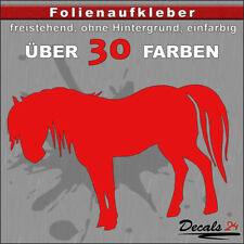 PF2 - Pferd Aufkleber Folienaufkleber Auto Wand Motiv - 30 Farben - H: 5-10cm