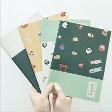 """""""Japanese Holiday"""" Exercise Book Pack of 4 Lined Notebook Big Study Agenda"""