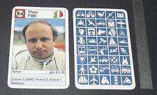CARTE COUREUR AUTOMOBILE 1984 FORMULE 1 GRAND PRIX F1 THEO FABI BRABHAM