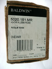 Baldwin Hardware 5020.151.MR Colonial Knob, UPC 723079279725, Antique Nickel