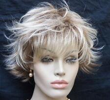 Perücke  blond silber aschblond gesträhnt wie Echthaar   Kurzhaar kurz