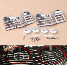 Chrome Finned Slotted Head Bolt Spark Plug Cover For Harley Touring Glides #7260