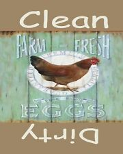 METAL DISHWASHER MAGNET Image Of Chicken Farm Fresh Eggs Clean Dirty MAGNET