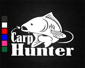 CARP HUNTER FISHING SPORT VINYL DECAL STICKER CAR/VAN/WALL/DOOR/LAPTOP/WINDOW