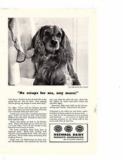 Print Ad 1943 National Dairy Dog Cocker Spaniel No scraps for me any more