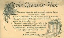 Antique DB Religious Postcard E261 the Greatest Path is to Your Church 1923 Post