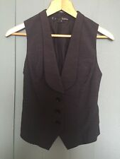 Basque Black Work Vest Size 8