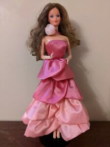 1984 Sweet Roses PJ Doll with dress Vintage Barbie With Steffie face *Beautiful*