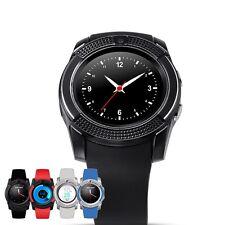 V8 Sport Smartwatch Schwarz  Uhren Handy Smart Watch Android und iOS