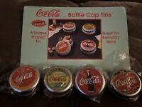 """VINTAGE 1997 """"DRINK COCA~COLA COKE BOTTLE CAP TIN 1-3/4""""x3-3/8"""""""