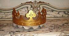 FRENCH ANTIQUE c1880's BED CANOPY CORONA CROWN CIEL DE LIT PEDIMENT