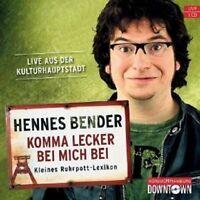"""HENNES BENDER """"KOMMA LECKER BEI MICH BEI""""HÖRBUCH CD NEU"""
