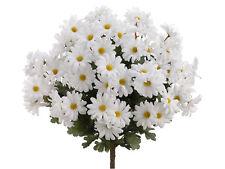 "19"" Artificial Daisy Bush x24 White (Pack of 12) Flowers Silk Plants Wedding 313"