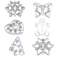 Stainless Steel Cookie Cutter Cake Mold Christmas Tree Snowflake Butterfly