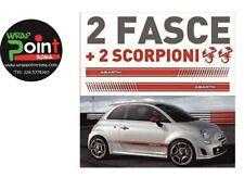 Fasce adesive Fiat 500 ABARTH 595 strisce laterali adesivi 500 alte 12cm