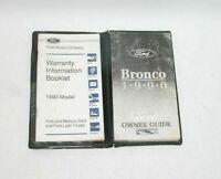 1990 Ford Bronco Factory Original Owners Manual Portfolio #T81