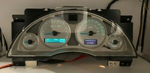 2002 BUICK RENDEZVOUS USED DASHBOARD INSTRUMENT CLUSTER FOR SALE (MPH)