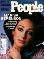 MARISA BERENSON People Magazine March 8, 1976 with label