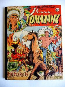 reliure éditeur album JIM TOMAHAWK N° 13 à 22. TBE+ RAY FLO .1952 RECIT COMPLET