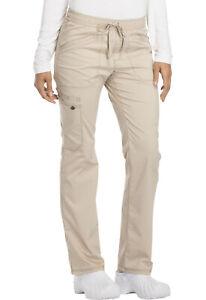 Scrubs Essence Mid Rise Straight Leg Drawstring Pant DK106 Khaki TALL Size S