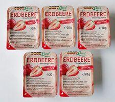 Erdbeere Konfitüre 20 x 20g  Brotaufstrich  Marmelade von Obst Land